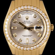 Rolex Day-Date Or jaune 39mm Argent