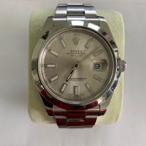 Rolex Silver Automatic Champagne No numerals 41mm pre-owned Datejust II