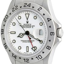 Rolex Explorer II Steel 41mm White No numerals
