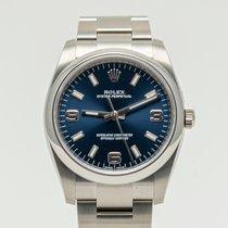 Rolex Oyster Perpetual 34 Сталь 34mm Синий Aрабские