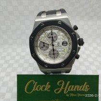 Audemars Piguet Royal Oak Offshore Chronograph gebraucht 42mm Silber Chronograph Datum Kautschuk