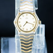 Ebel Wave Gold/Steel 25mm White Roman numerals