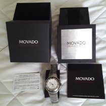Movado Series 800 Acier Blanc Sans chiffres
