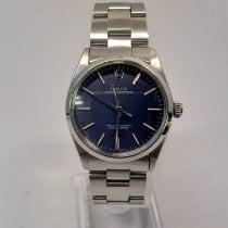 Rolex Oyster Perpetual 34 Stal 34mm Niebieski Bez cyfr