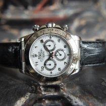 Rolex Daytona Or blanc 40mm Blanc