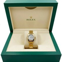 Rolex Lady-Datejust Pearlmaster pre-owned 29mm Mother of pearl Yellow gold
