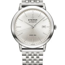 Eterna new Quartz 40mm Steel Sapphire crystal