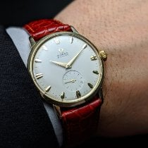 Omega Yellow gold Manual winding No numerals 34,5mm pre-owned