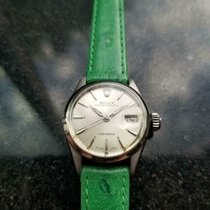 Rolex Oyster Perpetual Lady Date occasion 25mm Argent Date Cuir