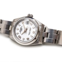 Rolex Oyster Perpetual Lady Date Acier 26mm Blanc Arabes France, Paris
