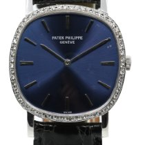 Patek Philippe Golden Ellipse Or blanc 33mm Bleu France, Lyon