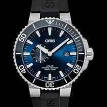 Oris Aquis Small Second Steel 45.5mm Blue United States of America, California, Burlingame