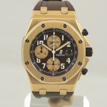 Audemars Piguet Royal Oak Offshore Or jaune 44mm Brun Arabes