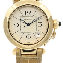 Cartier Pasha occasion 38mm Blanc Date Cuir