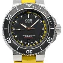 Oris Aquis Depth Gauge 01 733 7675 4154-Set 2013 pre-owned