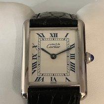 Cartier Tank Vermeil Cеребро 31mm Белый