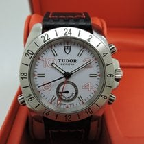 Tudor Sport Aeronaut pre-owned 41mm White Date GMT Leather