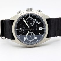 Hamilton Khaki Pilot Pioneer pre-owned 41mm Black Chronograph Date Textile