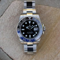Rolex GMT-Master II Stahl 40mm Schwarz Keine Ziffern