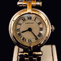 Cartier Panthère Goud/Staal 24mm Champagne Romeins