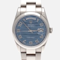 Rolex Day-Date 36 pre-owned 36mm Blue Date Weekday White gold
