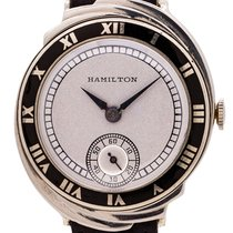 Hamilton White gold Manual winding Silver 29mm pre-owned
