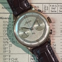 Minerva pre-owned Manual winding 36mm Silver