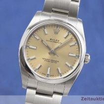 Rolex Oyster Perpetual 34 Stal 34mm Złoty