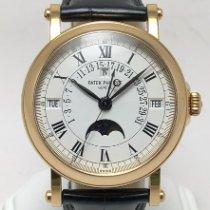 百達翡麗 Perpetual Calendar 黃金 36mm 白色 羅馬數字