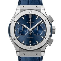 Hublot Classic Fusion Chronograph Titanium 42mm Blue No numerals United Kingdom