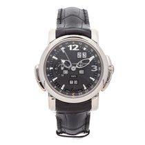 Ulysse Nardin White gold Automatic Black Arabic numerals 42mm pre-owned GMT +/- Perpetual