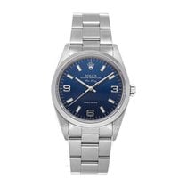 Rolex Air King Precision Stahl 34mm Blau Arabisch