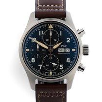 IWC Pilot Spitfire Chronograph Ocel 41mm Černá