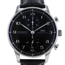 IWC Portuguese Chronograph Ocel 41mm Černá Arabské