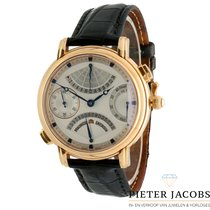 Maurice Lacroix Rose gold Manual winding Silver No numerals 43mm pre-owned Masterpiece