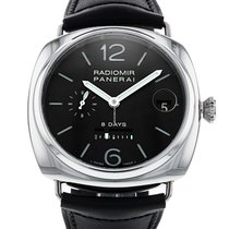 Panerai Radiomir 8 Days pre-owned 45mm Black Date Leather