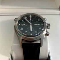 IWC Pilot Double Chronograph Staal 42mm Zwart Arabisch Nederland, Alblasserdam