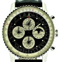 Breitling Platinum Automatic Black pre-owned Navitimer