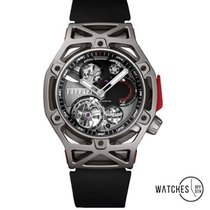 Hublot Techframe Ferrari Tourbillon Chronograph Titanio 45mm Grigio Senza numeri
