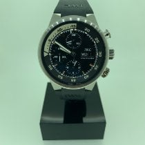 IWC Aquatimer Chronograph Steel 42mm Black No numerals