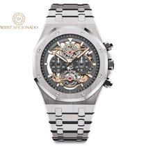 Audemars Piguet Titanium Automatic Transparent No numerals 44mmmm pre-owned Royal Oak Tourbillon