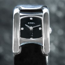 Ebel Beluga pre-owned 19mm Black Leather