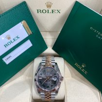 Rolex Datejust Gold/Steel 41mm Grey Roman numerals United States of America, New York, New York