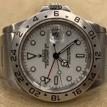 Rolex Explorer II Stal 40mm Biały Bez cyfr
