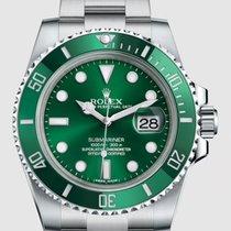 Rolex Submariner Date Acél 40mm Zöld Számjegyek nélkül