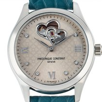 Frederique Constant Ladies Automatic Double Heart Beat Steel 36mm Grey Roman numerals