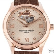 Frederique Constant Ladies Automatic Double Heart Beat Rose gold 36mm Grey Roman numerals