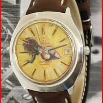 Omega Seamaster Сталь 37mm Желтый Без цифр