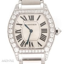Cartier Tortue Or blanc 34mm Argent Romains