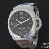 Panerai Luminor 1950 3 Days GMT Automatic PAM 329 Foarte bună Otel 44mm Atomat